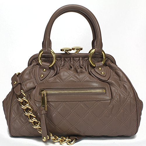 Marc Jacobs Mini Stam Satchel Bag, Truffle w Brass