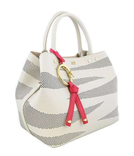 Class Roberto Cavalli CityZebra 003 White/Nude Small Handbag