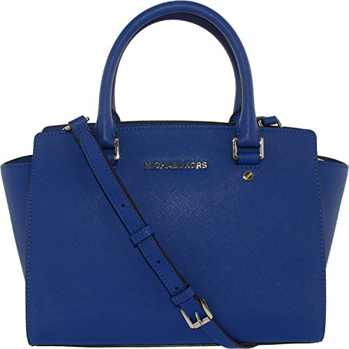 Michael Michael Kors Selma Medium Leather Satchel, Blue