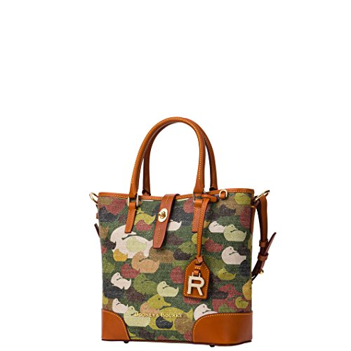 Dooney & Bourke Women's Medium Cayden Tote Handbag with Leather Trim Camo Duck