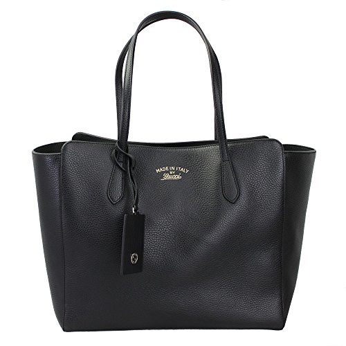 Gucci Women's Swing Black Leather Tote Bag Bag 354397