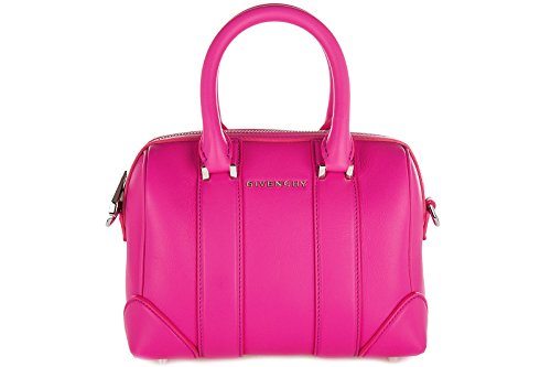 Givenchy women's leather handbag barrel bag purse lucrezia micro fucsia