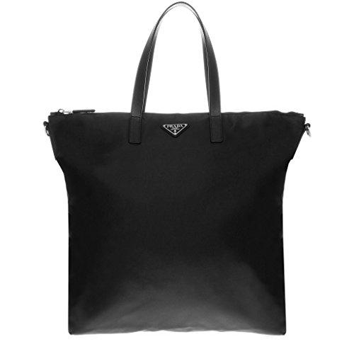 Prada Tessuto Nylon Zip Tote Bag Black