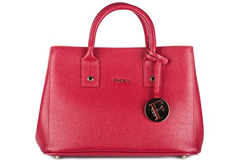Furla women's leather handbag shopping bag purse linda red