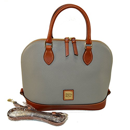 Dooney & Bourke Zip Zip Satchel Pebble Leather Xbody Smoke