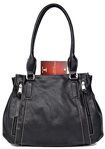 Tignanello Women Handbag Leather Satchel Black