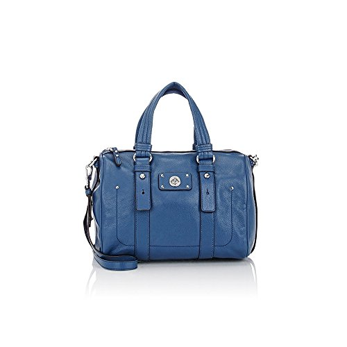 Marc by Marc Jacobs Totally Turnlock Shifty Leather Satchel – Deep Blue