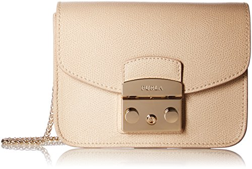 Furla Metropolis Mini Crossbody maple