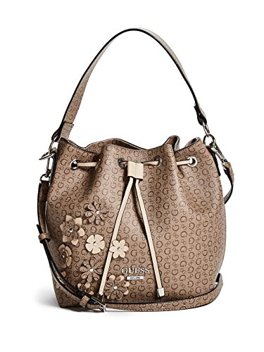 GUESS Factory Women's Cherrywood Floral Logo Bucket Bag