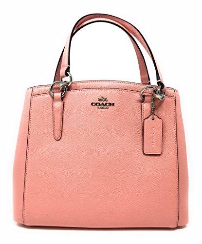 Coach Crossgrain Leather Minetta Handbag in Blush SV/B5