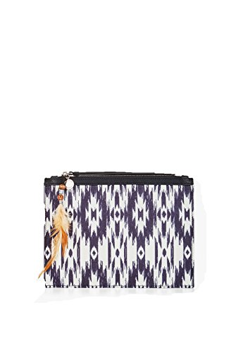 BCBGeneration Feather Detail Patterned Clutch