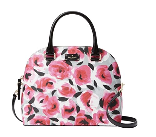 Kate Spade New York Carli Grove Street Printed Satchel Handbag, Rose Bed