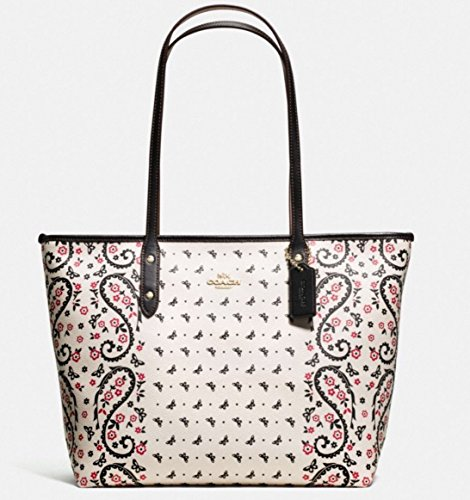 Coach CITY ZIP TOTE IN BUTTERFLY BANDANA PRINT COATED CANVAS F59329