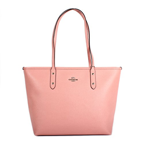 Coach Crossgrain Leather City Zip Tote F57522 Blush Pink