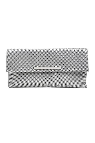 Modern Metal Mesh Envelop Clutch