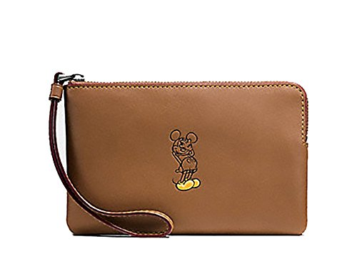 Coach Disney Mickey Leather Corner Wristlet – #F59528