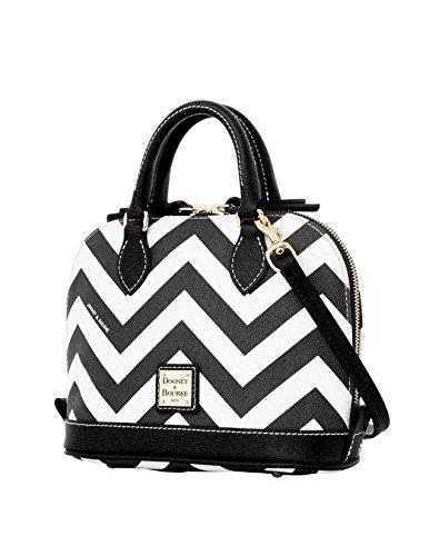 Dooney & Bourke Chevron Bitsy Bag Black White
