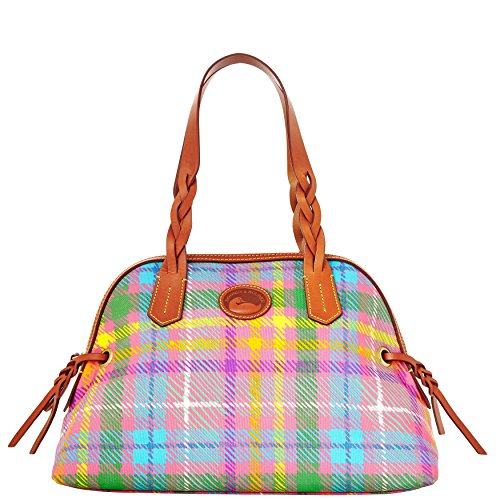 Dooney & Bourke Madras Small Domed Satchel Handbag Purse