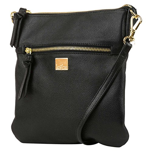 Kooba Leather Crossbody Bag (Black)