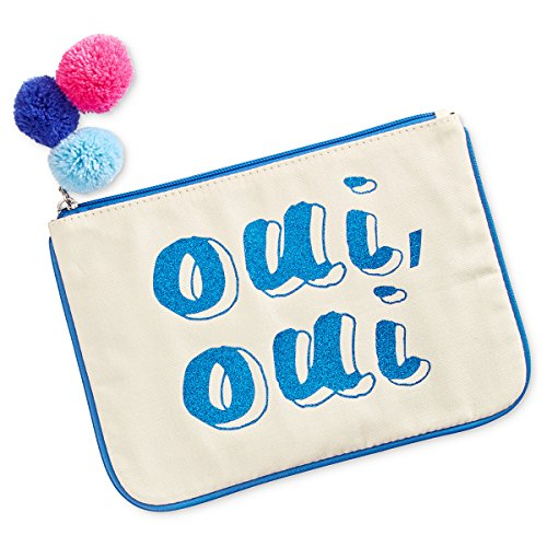 "Madden Girl 10×7-in ""Oui Oui"" Small Canvas Glitter Pouch"