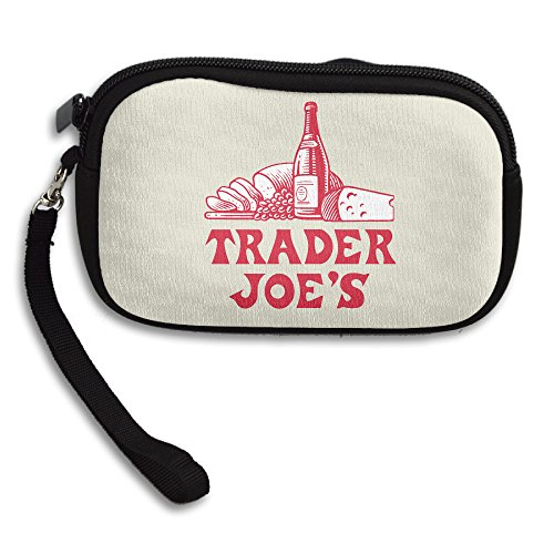 Trader Joe's Cellphone Bag / Wristlet Handbag / Clutch Purse / Wallet Handbag With Wrist Band For Adults And Kids