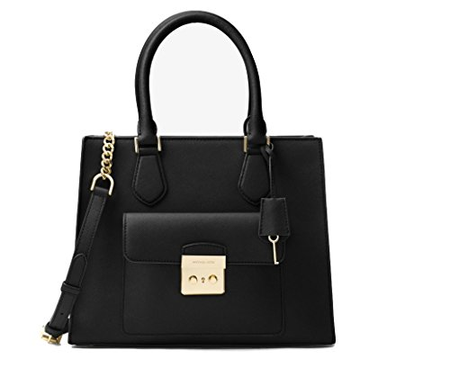 Michael Kors – Bridgette Medium Saffiano Leather Tote – Black