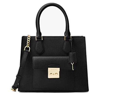 Michael Kors – Bridgette Medium Saffiano Leather Tote – Black