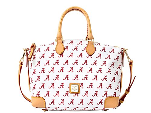 Dooney and Bourke Alabama Crimson Tide Satchel Handbag – White