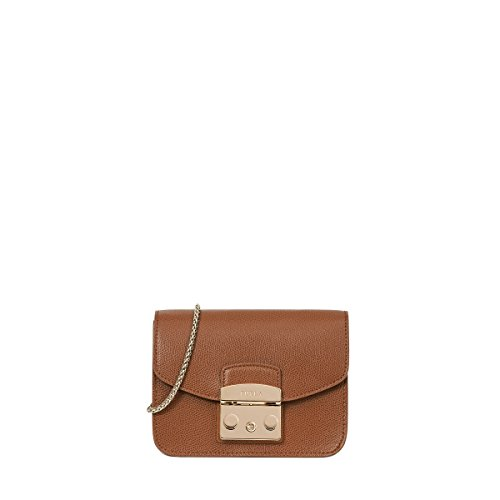 Furla Metropolis Mini Crossbody Nut