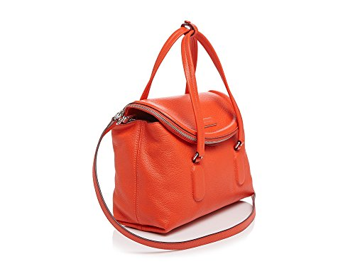 MARC BY MARC JACOBS 'Silicone Valley – Small' Pebbled Leather Satchel, Bright Tangelo