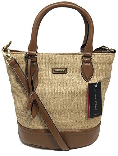 Tignanello South Hampton Bucket Bag, Natural/Natural Straw