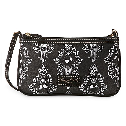 Dooney & Bourke Disneys Nightmare Before Christmas Jack Skellington on Haunted Mansion Wallpaper Wristlet