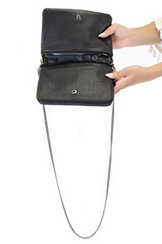 BCBGeneration Chain Accent Cross-Body Bag, Black