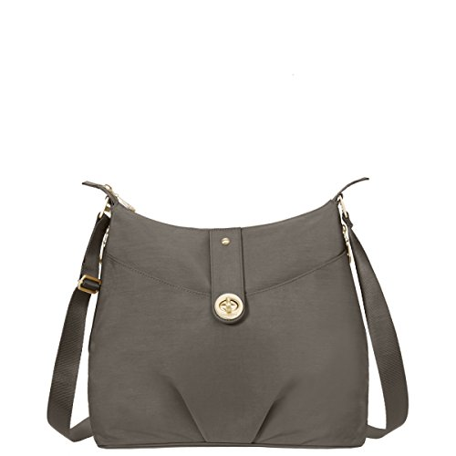 Baggallini Helsinki Travel Crossbody Bag Gold Hardware, Portobello