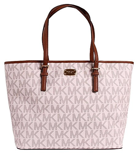 Michael Kors Jet Set Travel MK Signature Large Carryall Tote Handbag