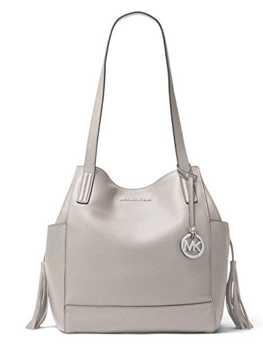 Michael Michael Kors Ashbury Large Leather Grab Shoulder Bag in Pearl Grey