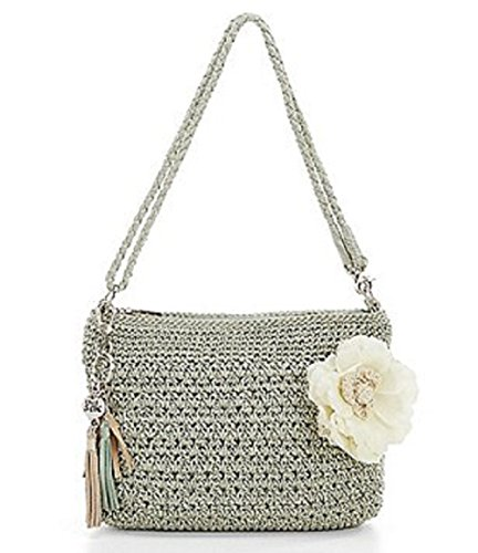 The Sak Shasta Tasseled Crochet Convertible Demi Crossbody Bag