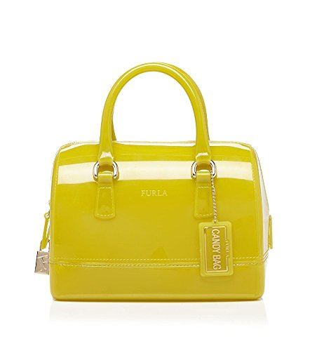 Furla Candy Cookie Mini Small Satchel, Jade Green, One Size