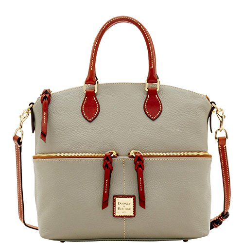 Dooney & Bourke double pocket Satchel Pebble Smoke R2224 SM