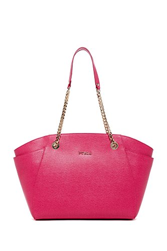 Furla, Furla Julia Chain Strap medium Leather Tote , GLOSS