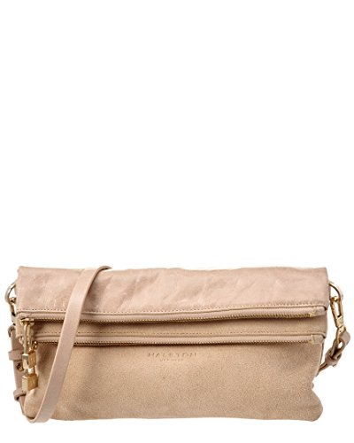 Halston Heritage Leather Convertible Fold-Over Clutch