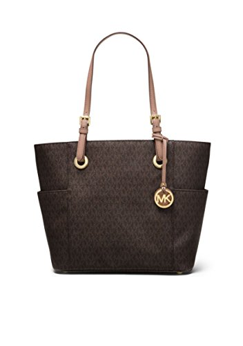 MICHAEL Michael Kors Large Jet Set Signature Tote, Brown/Fawn