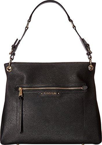 Calvin Klein Women's Key Items Saffiano Hobo Black Handbag