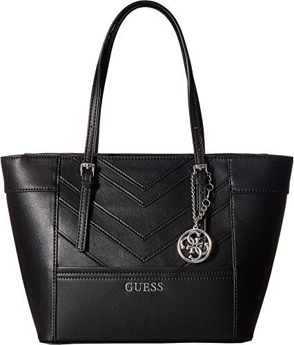 GUESS Women's Delaney Small Classic Tote Black Handbag
