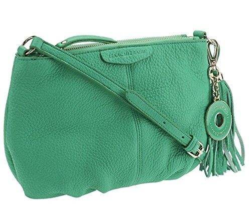 Isaac Mizrahi Bridgehampton Leather Zip Top Crossbody Bag A251185, Mint