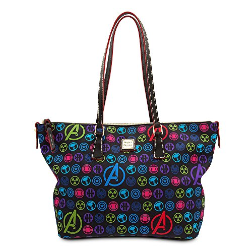 Disney Marvel Avengers Dooney & Bourke Zip Top Shopper Tote Bag