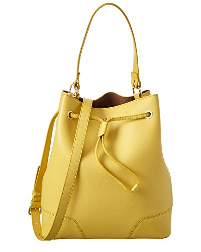 Furla Stacy Medium Leather Bucket Bag, Yellow