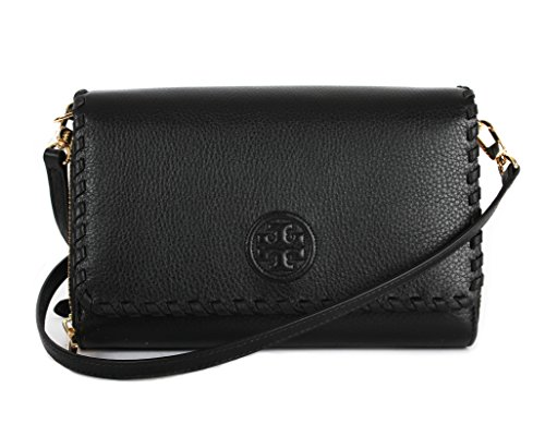 Tory Burch Marion Flat Wallet Crossbody Bag, Black, One Size