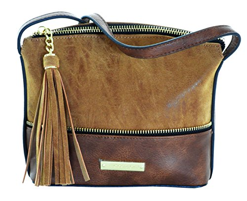 Steve Madden Girls MGMAXXI Crossbody Bag, Cognac