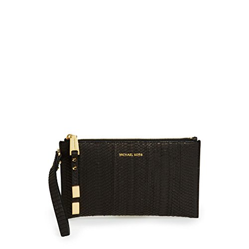 Michael Kors Collection Miranda Zip Clutch Genuine Sunbeam Snake
